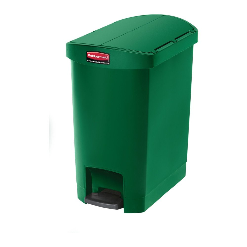 Rubbermaid Slim Jim End Step 30 liter kunststof groen