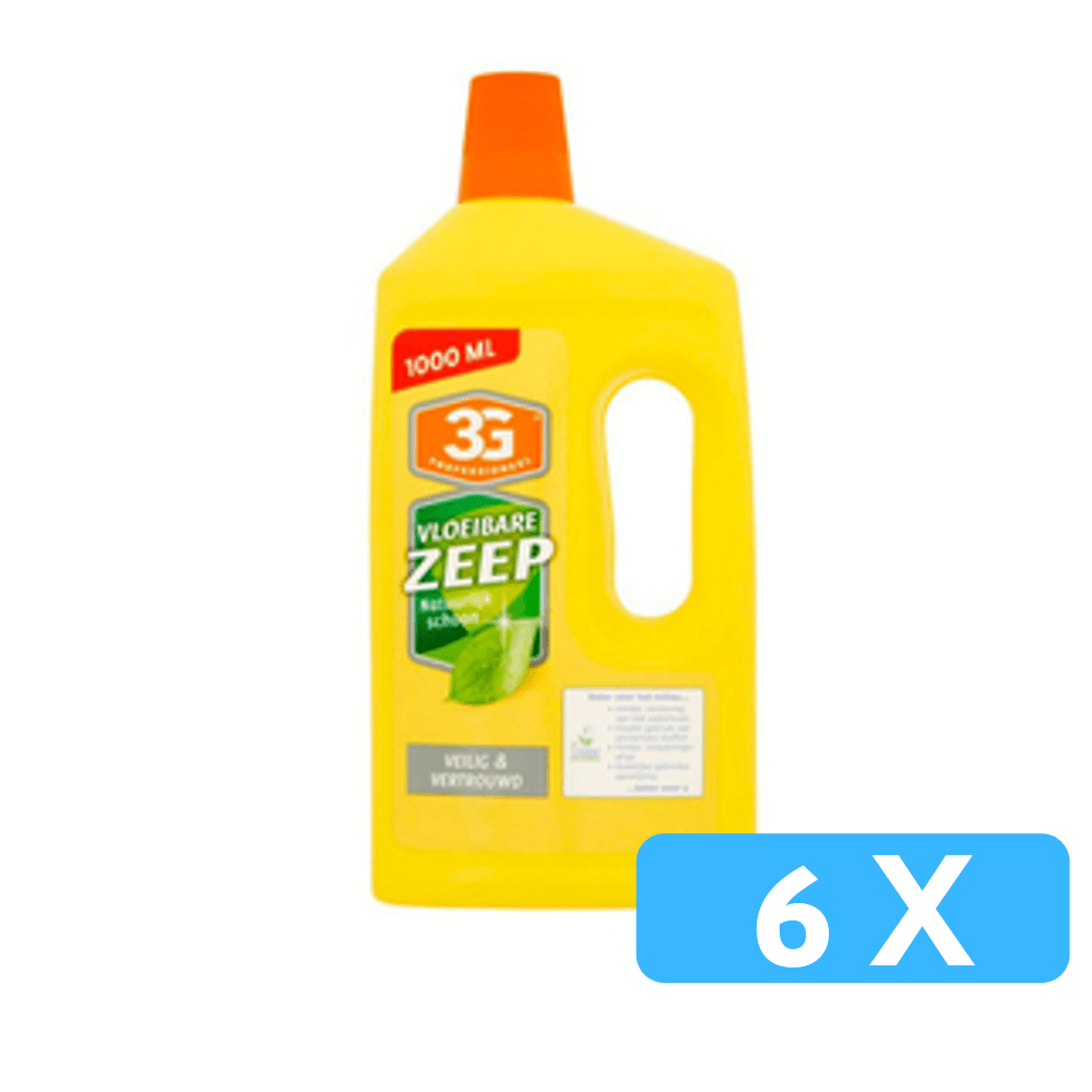 3G Vloeibare zeep ECO-label 6 x 1 liter