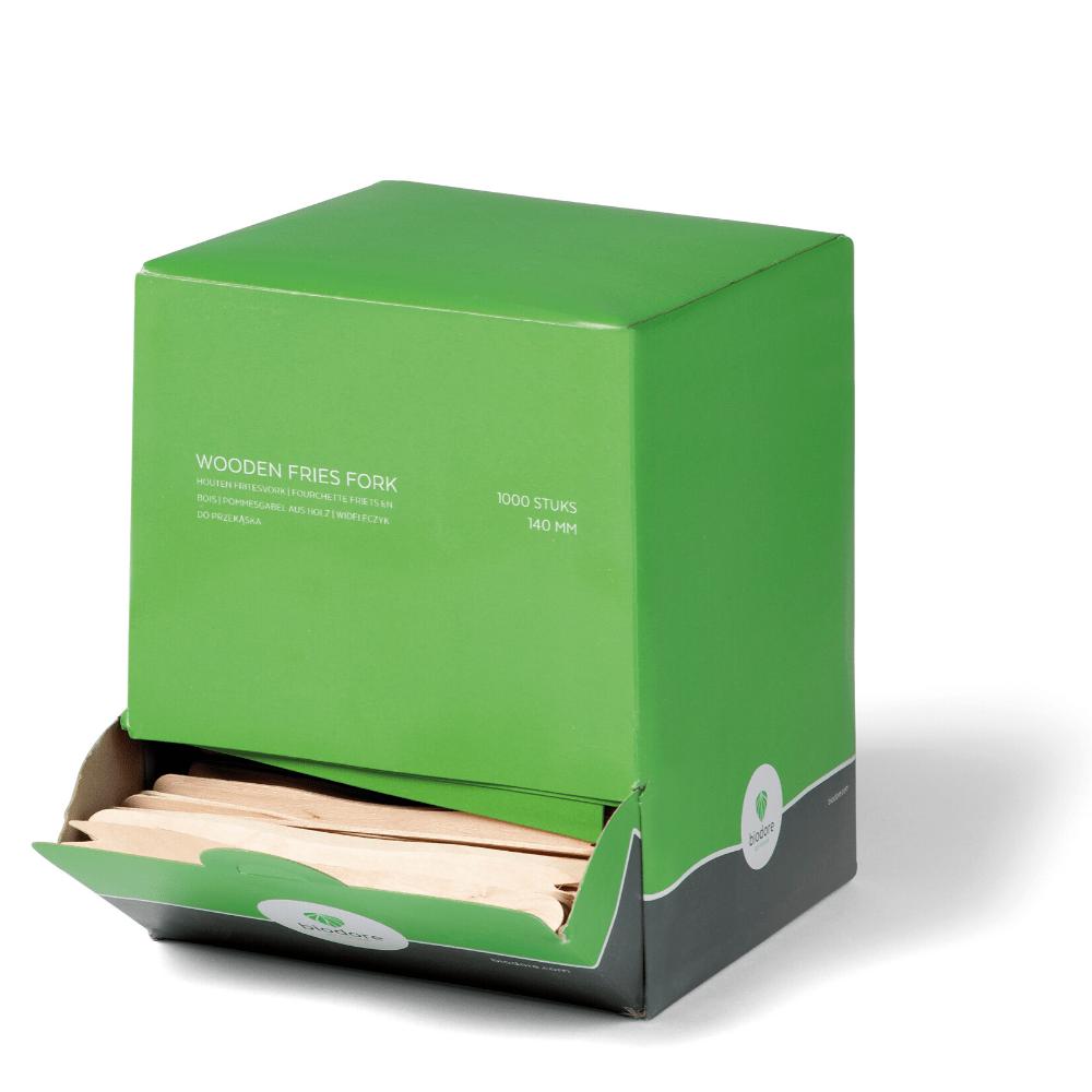 Biodore frietvorkjes hout 12 x 1000 stuks