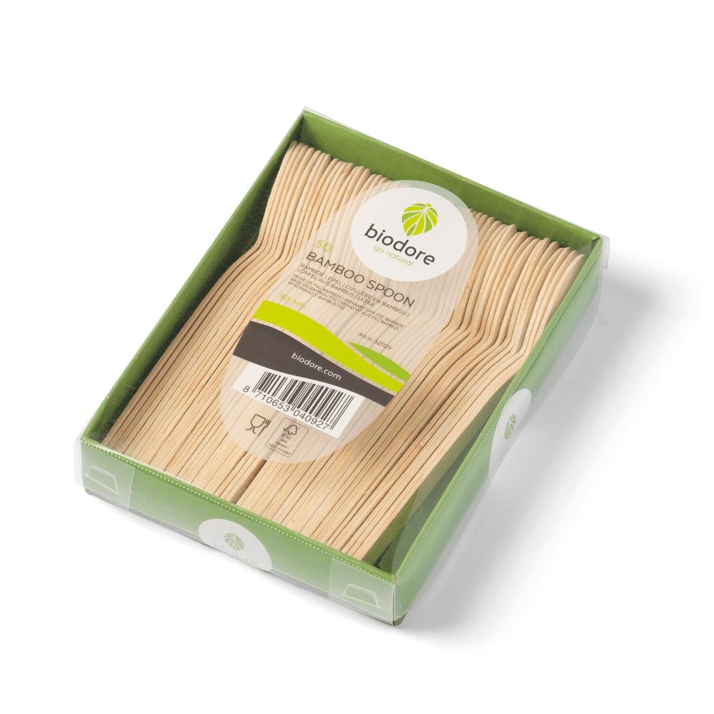 Biodore lepel bamboe 20 x 50 stuks