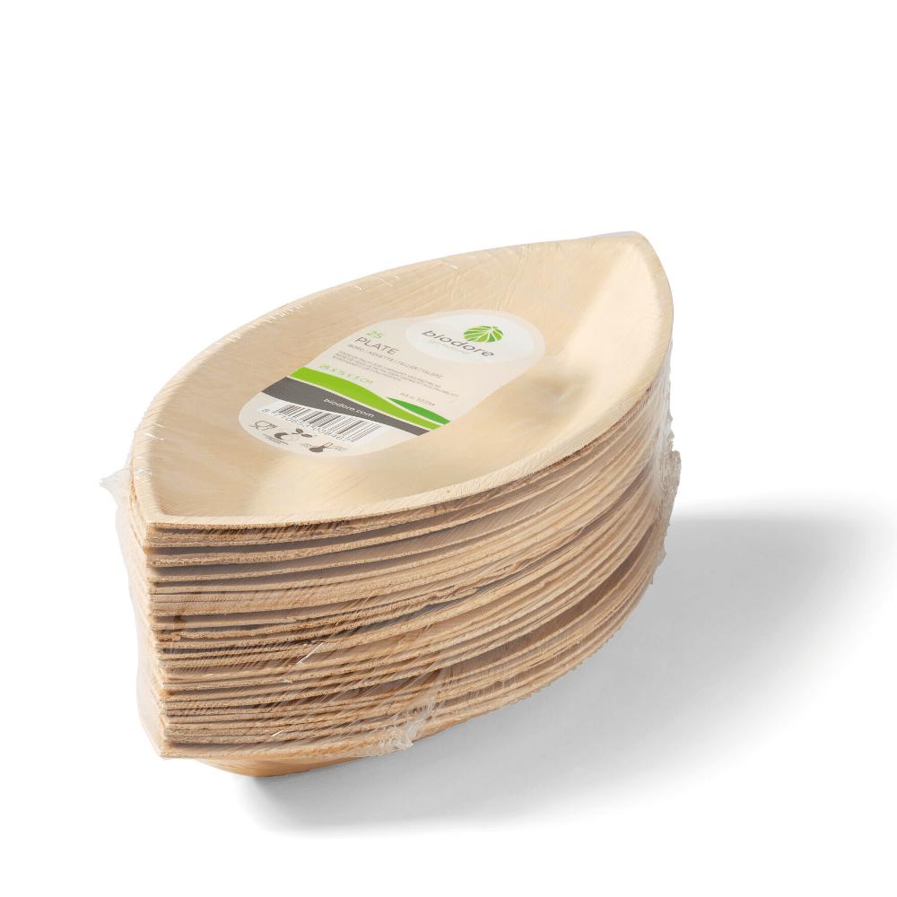 Biodore Bord palmblad naturel 4 x 25 stuks