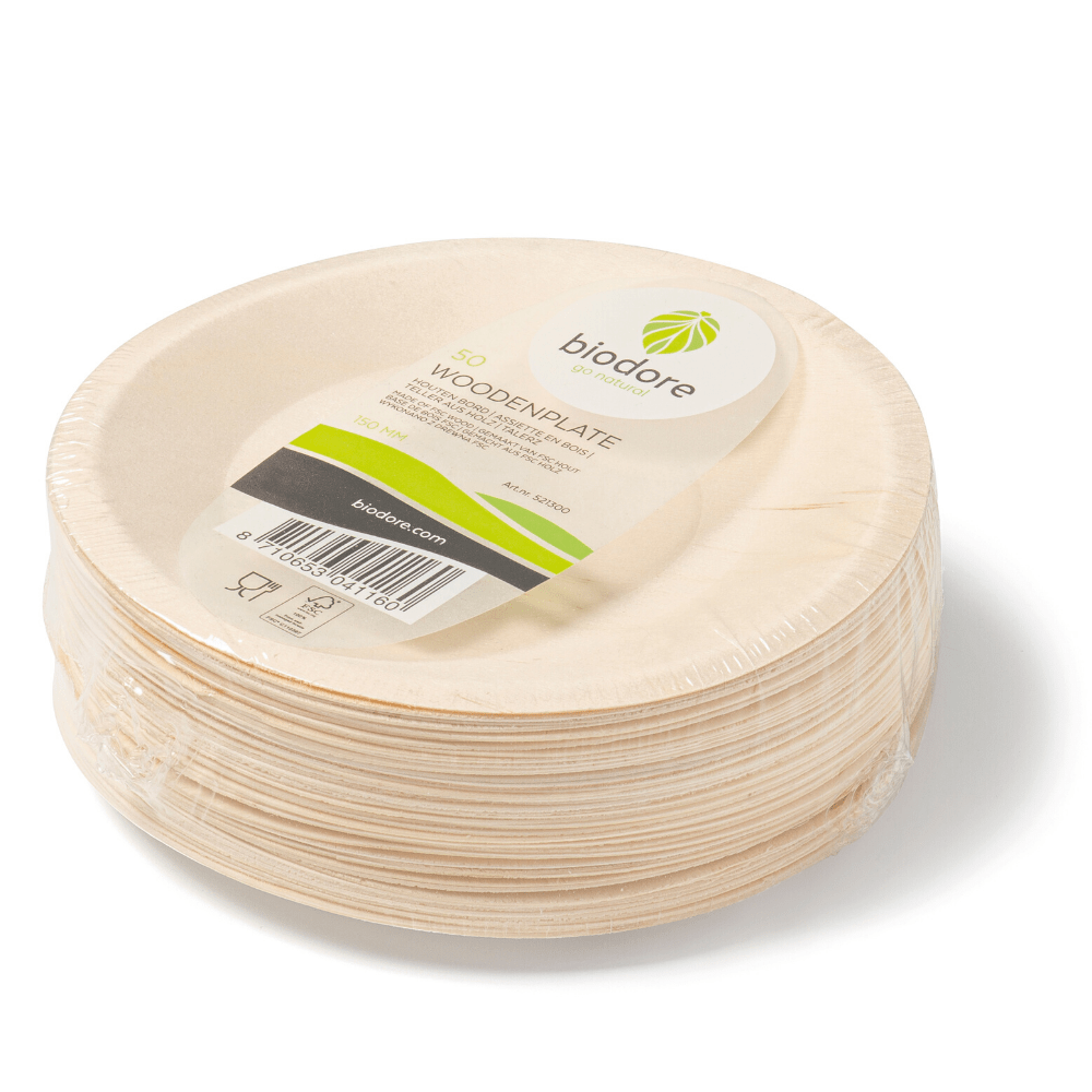 Biodore Bord 250 mm hout naturel 5 x 50 stuks