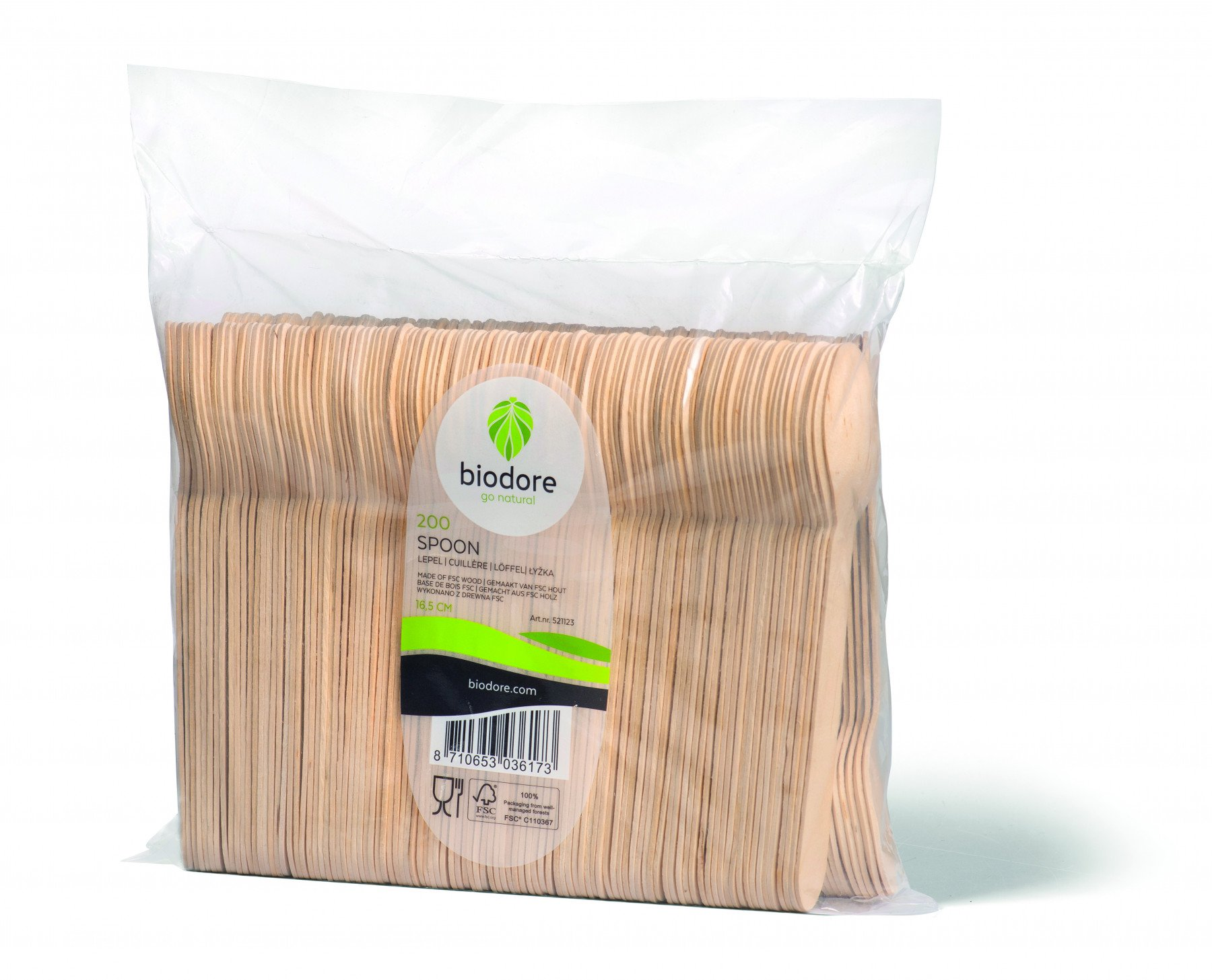 Biodore lepel hout 12 x 200 stuks