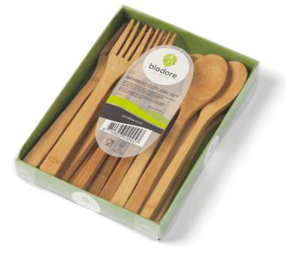 Biodore bestekset bamboe 20 x 18 stuks