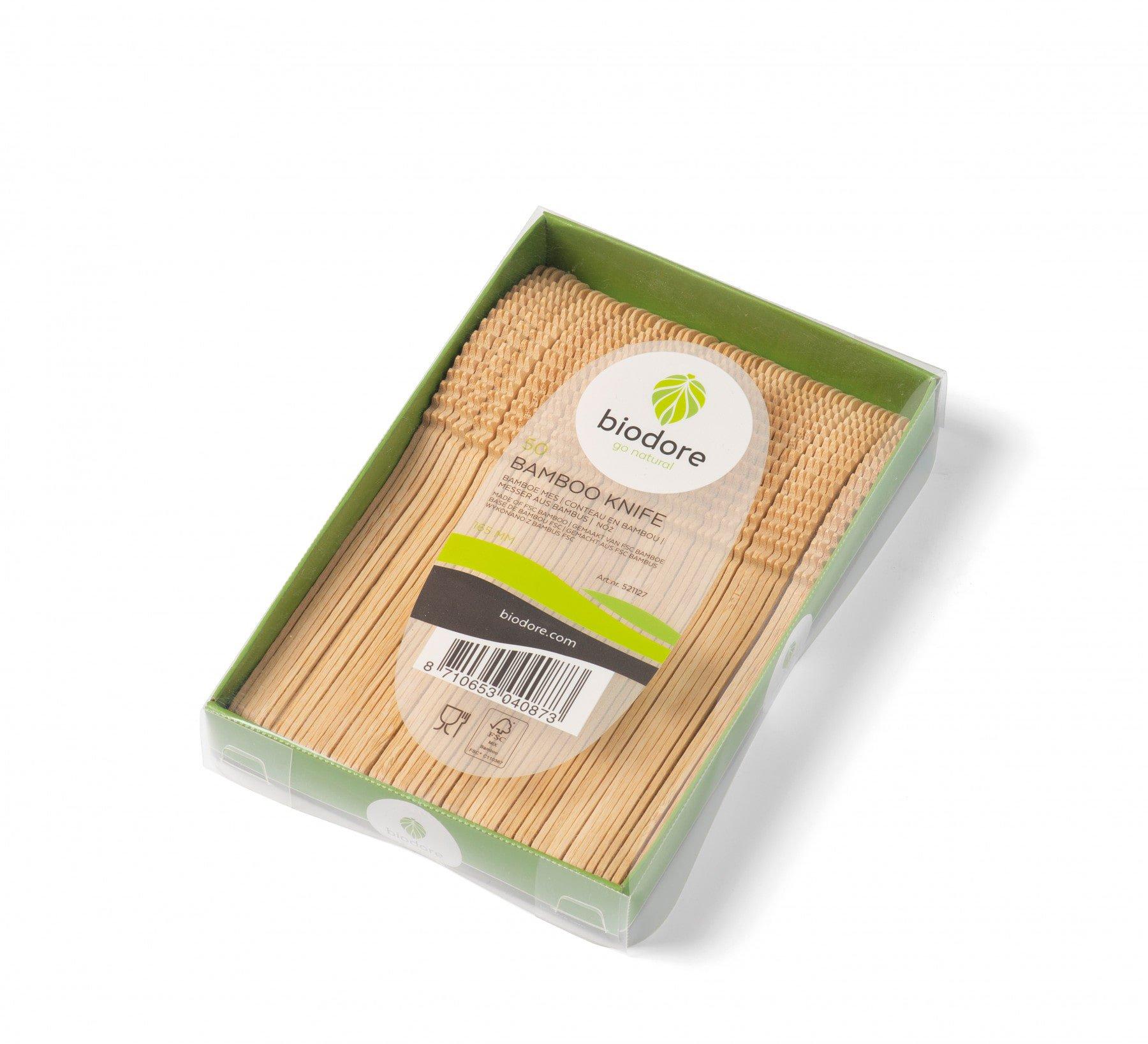 Biodore mes bamboe 20 x 50 stuks