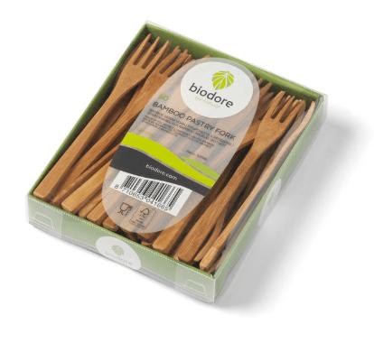 Biodore gebaksvork bamboe 10 x 50 stuks