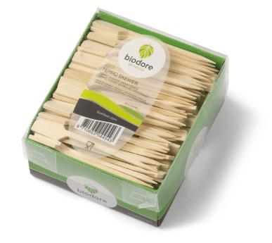 Biodore prikker bamboe 90 mm 12 x 250 stuks
