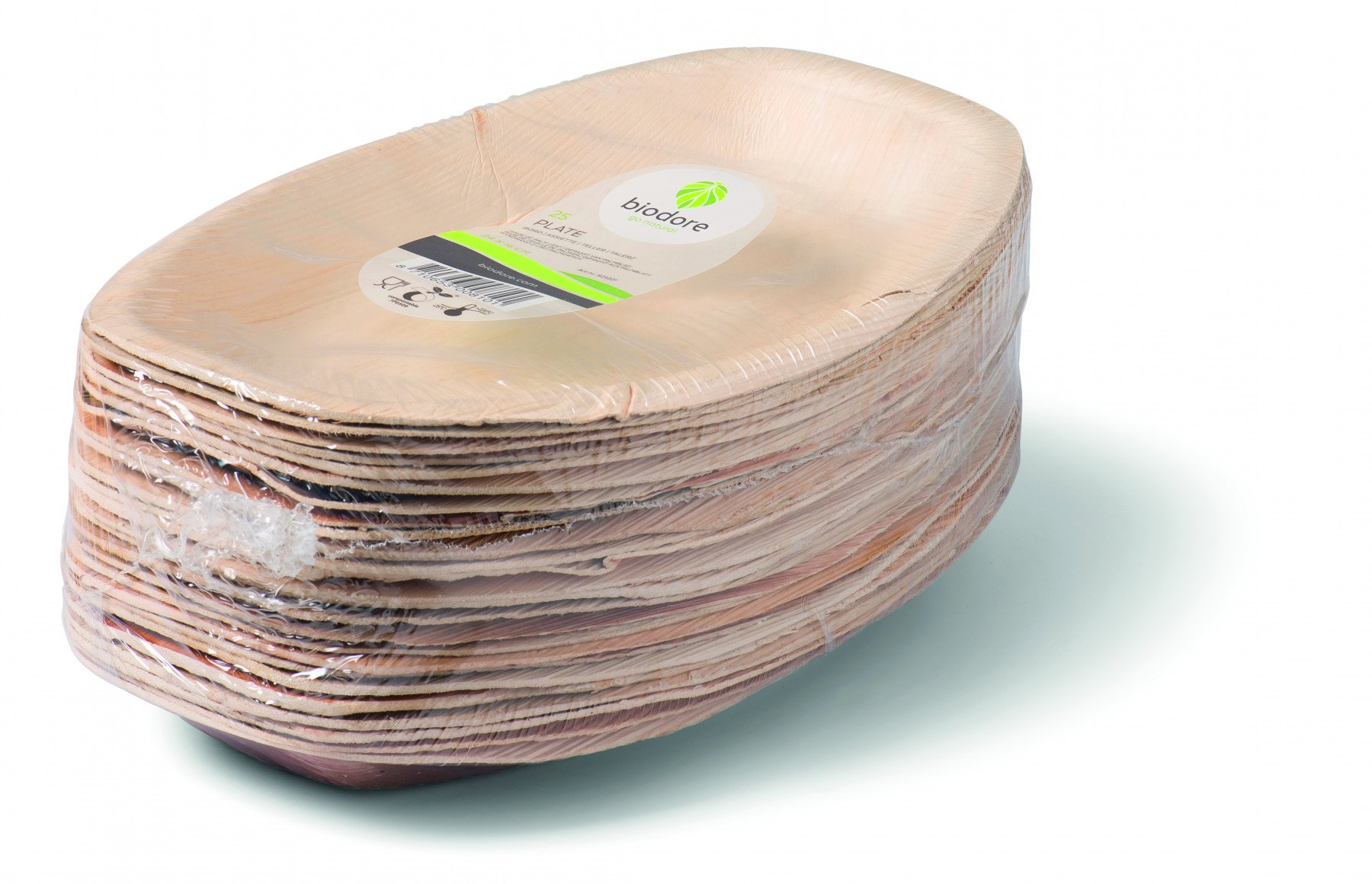 Biodore schaal palmblad 4 x 25 stuks