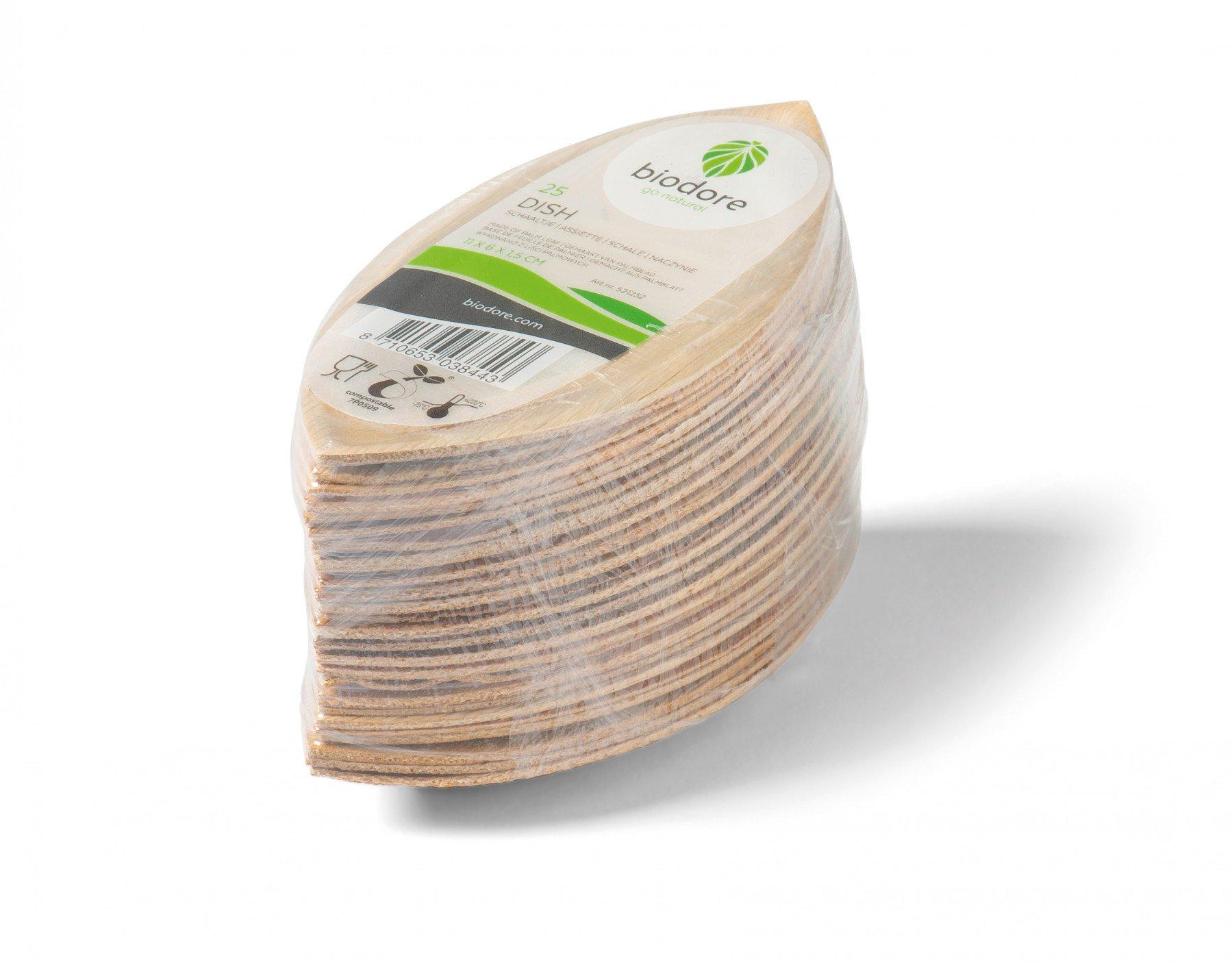 Biodore Bord palmblad naturel 16 x 25 stuks