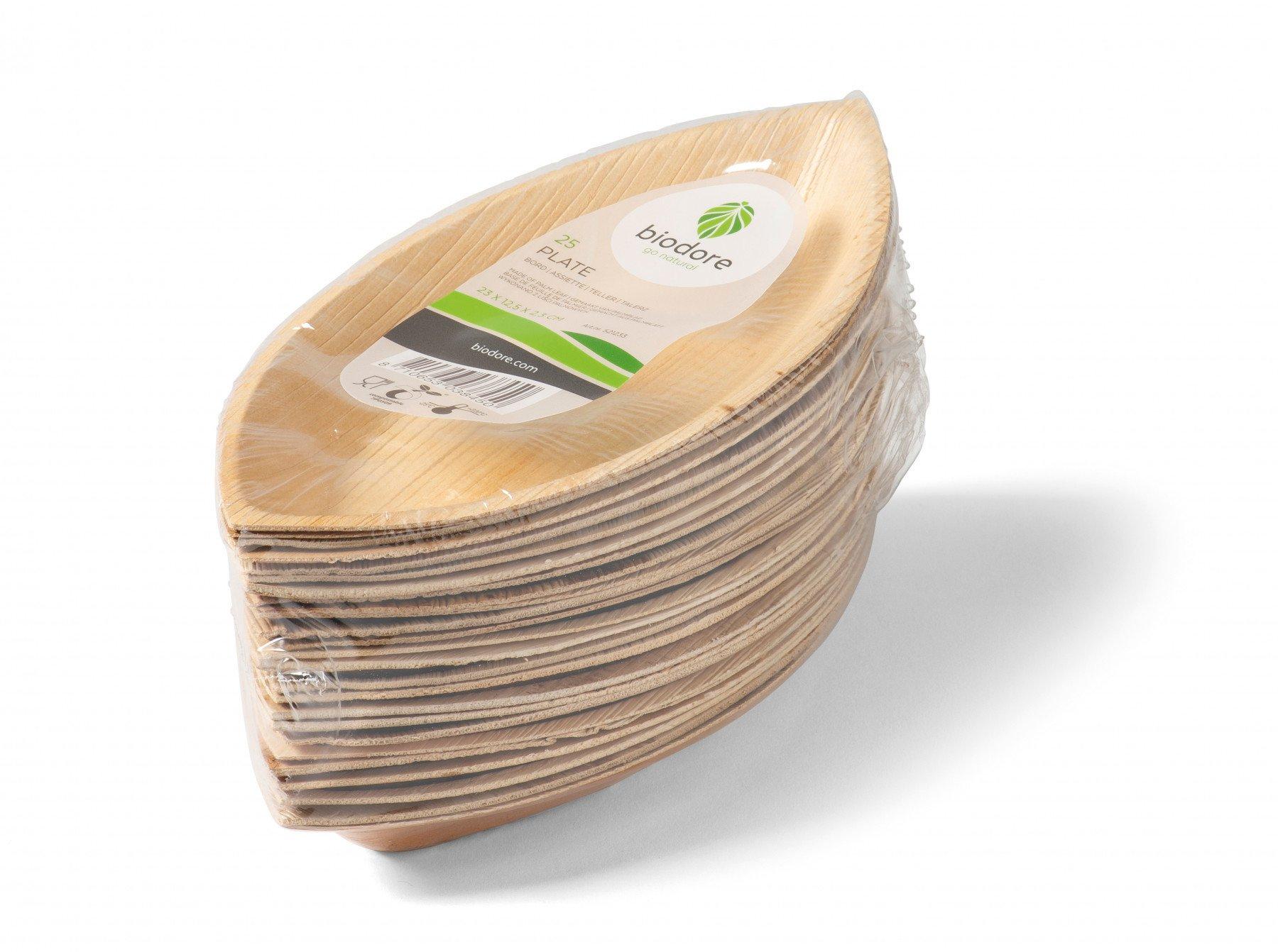 Biodore Bord palmblad naturel 8 x 25 stuks