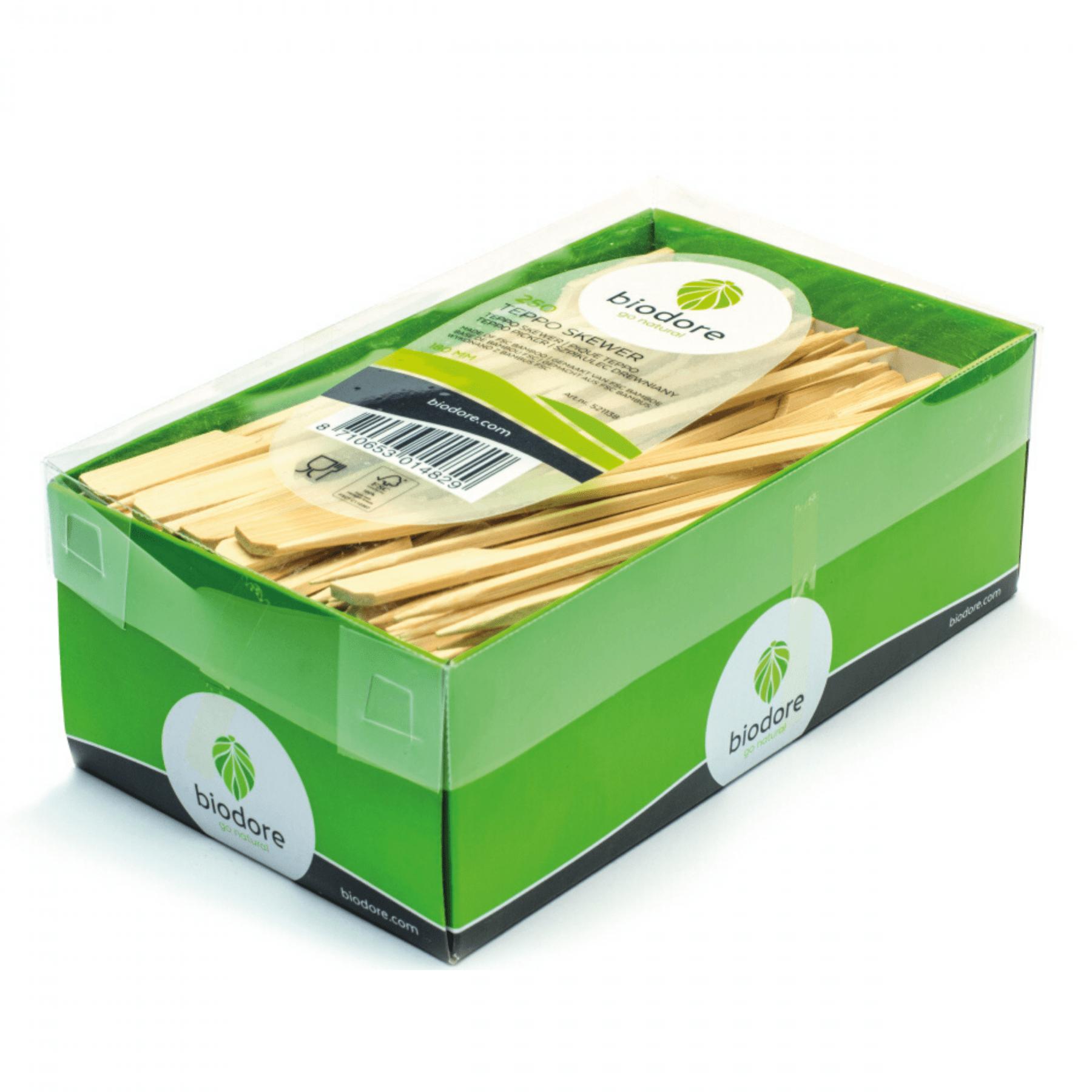Biodore cocktailprikker bamboe 250 mm 3000 stuks