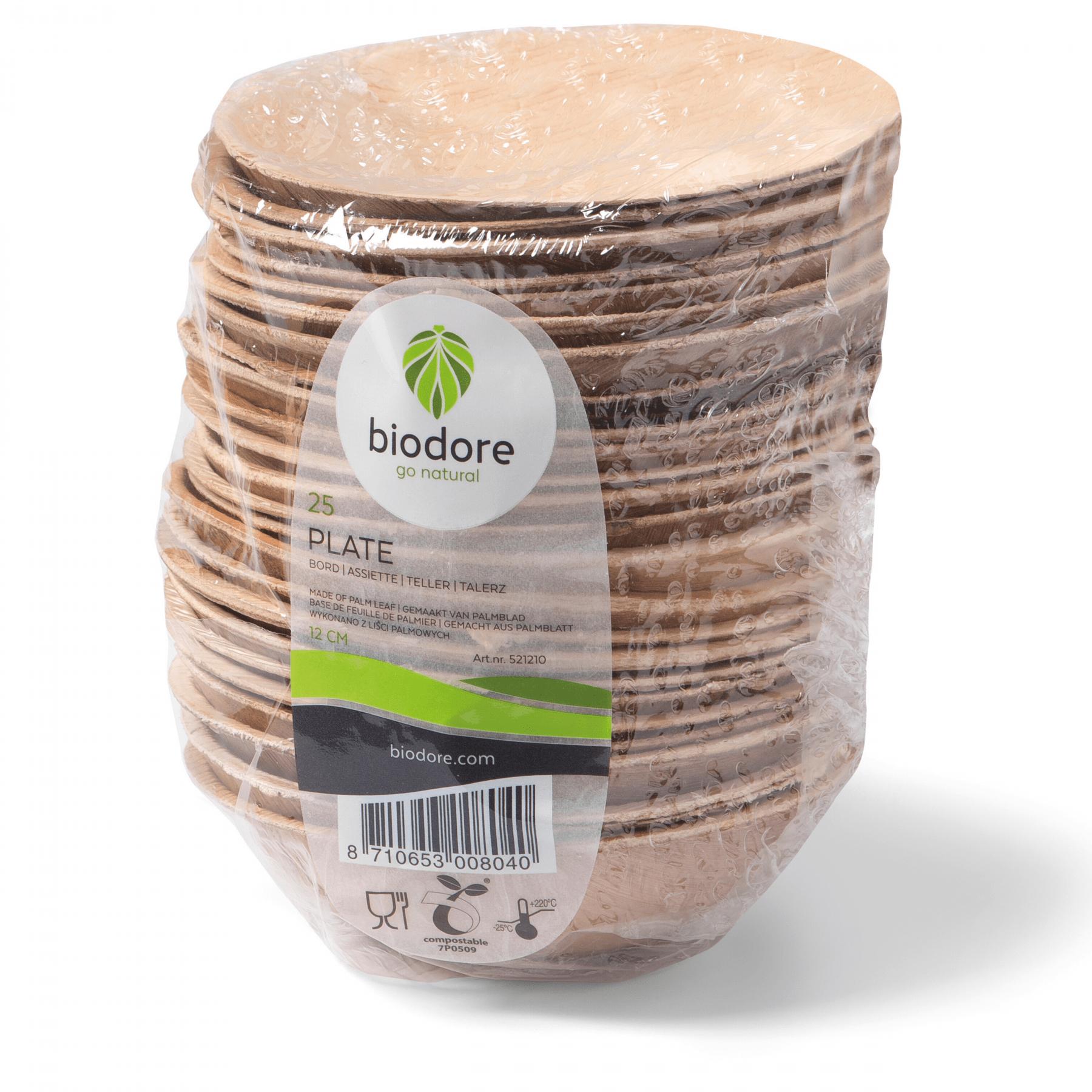 Biodore schaal 75 ml rond 16 x 25 stuks