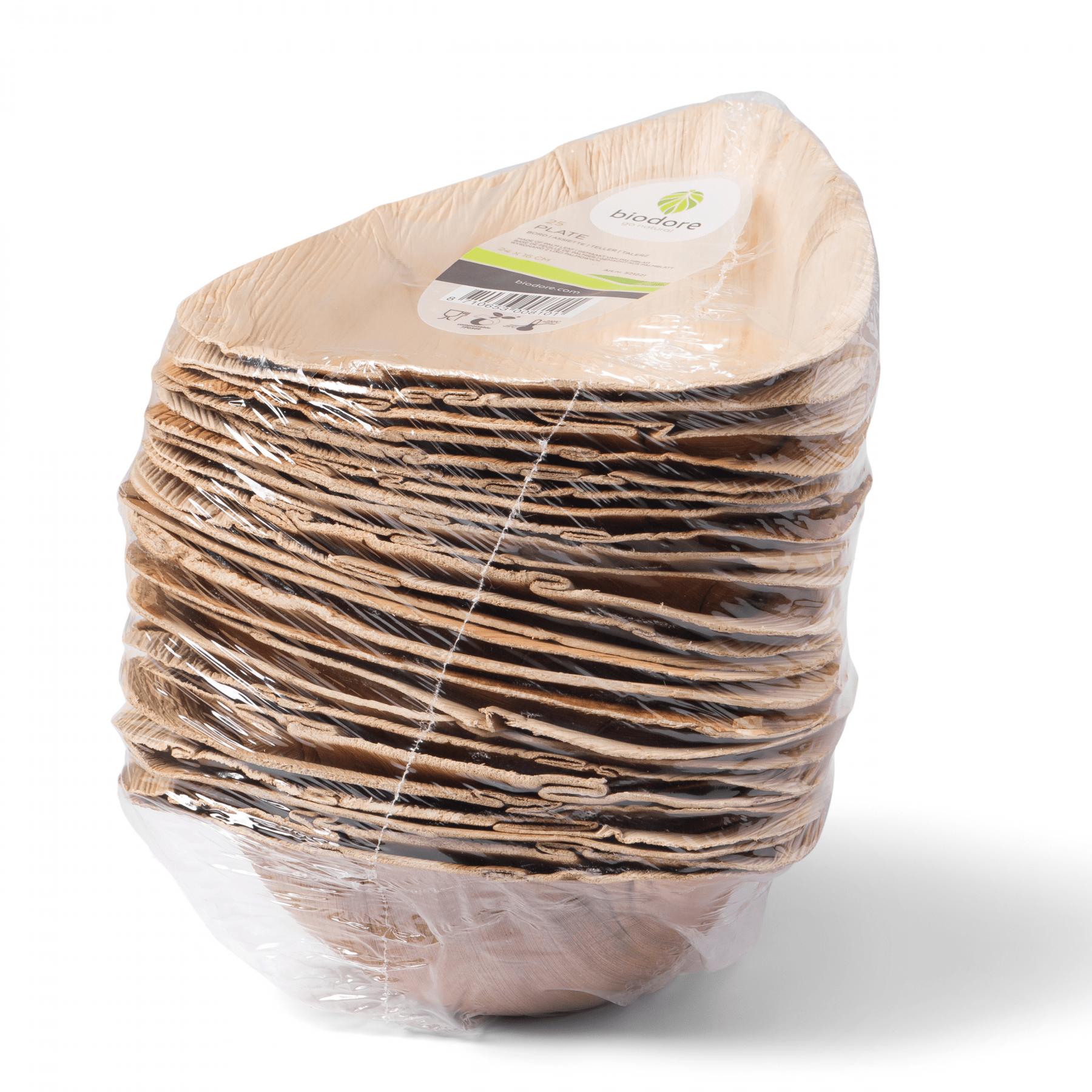 Biodore kommen 600 ml palmblad 4 x 25 stuks