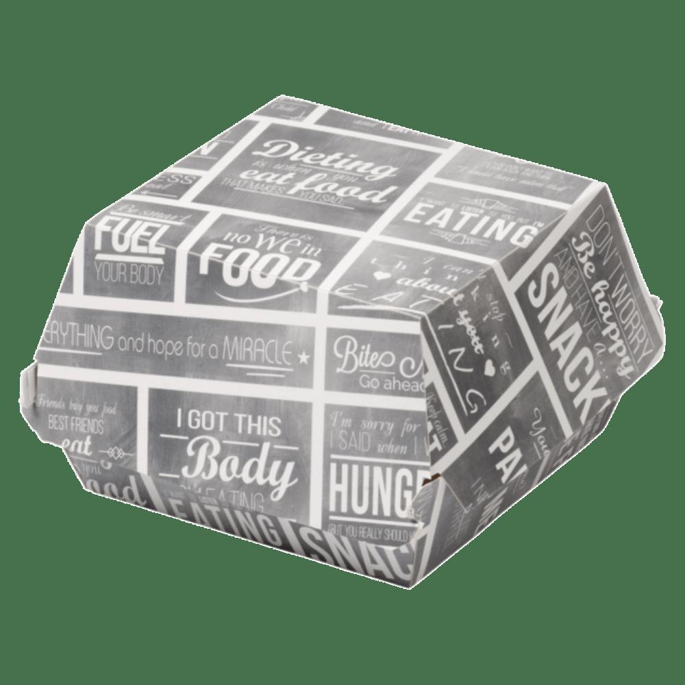 Bak Karton en coating 90 x 90 x 70 mm wit-grijs