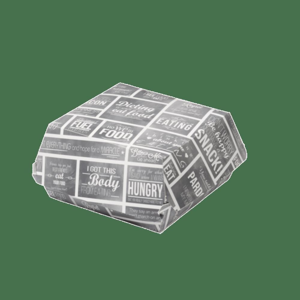 Bak Karton en coating 115 x 115 x 70 mm wit-grijs