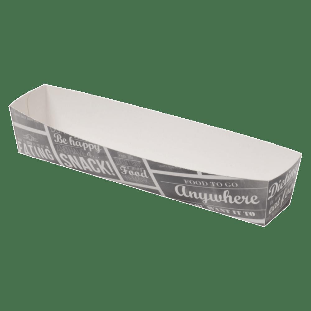 Bak Karton en coating 185 x 33 x 35 mm wit-grijs