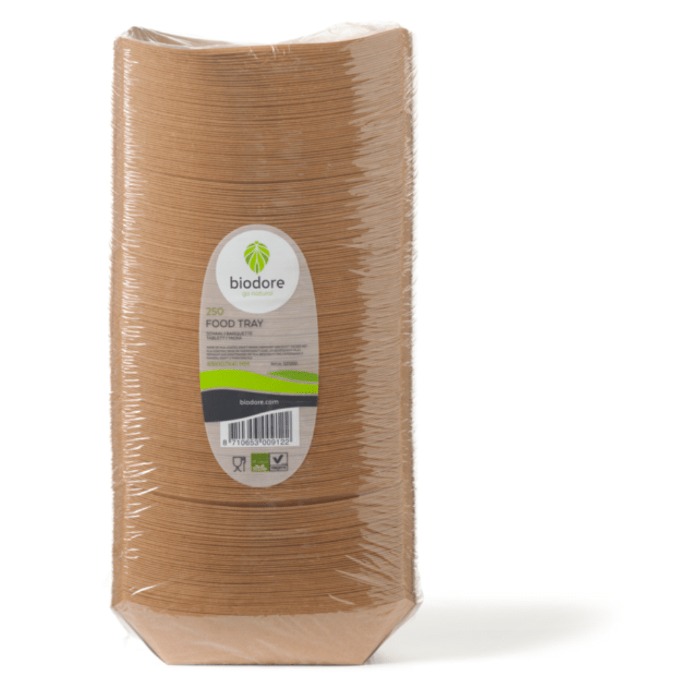 Biodore® Schaal conisch bakje Kraft en PLA 69 x 107 mm