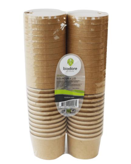Biodore Soepkom en deksel Kraft 250 ml 20 x 25 stuks