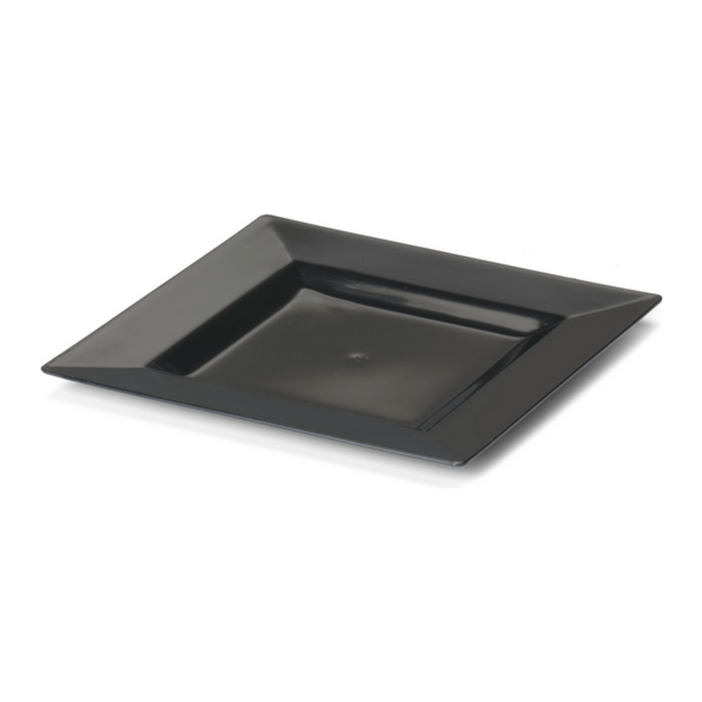 Bord Vierkant 200 mm zwart 20 x 4 stuks