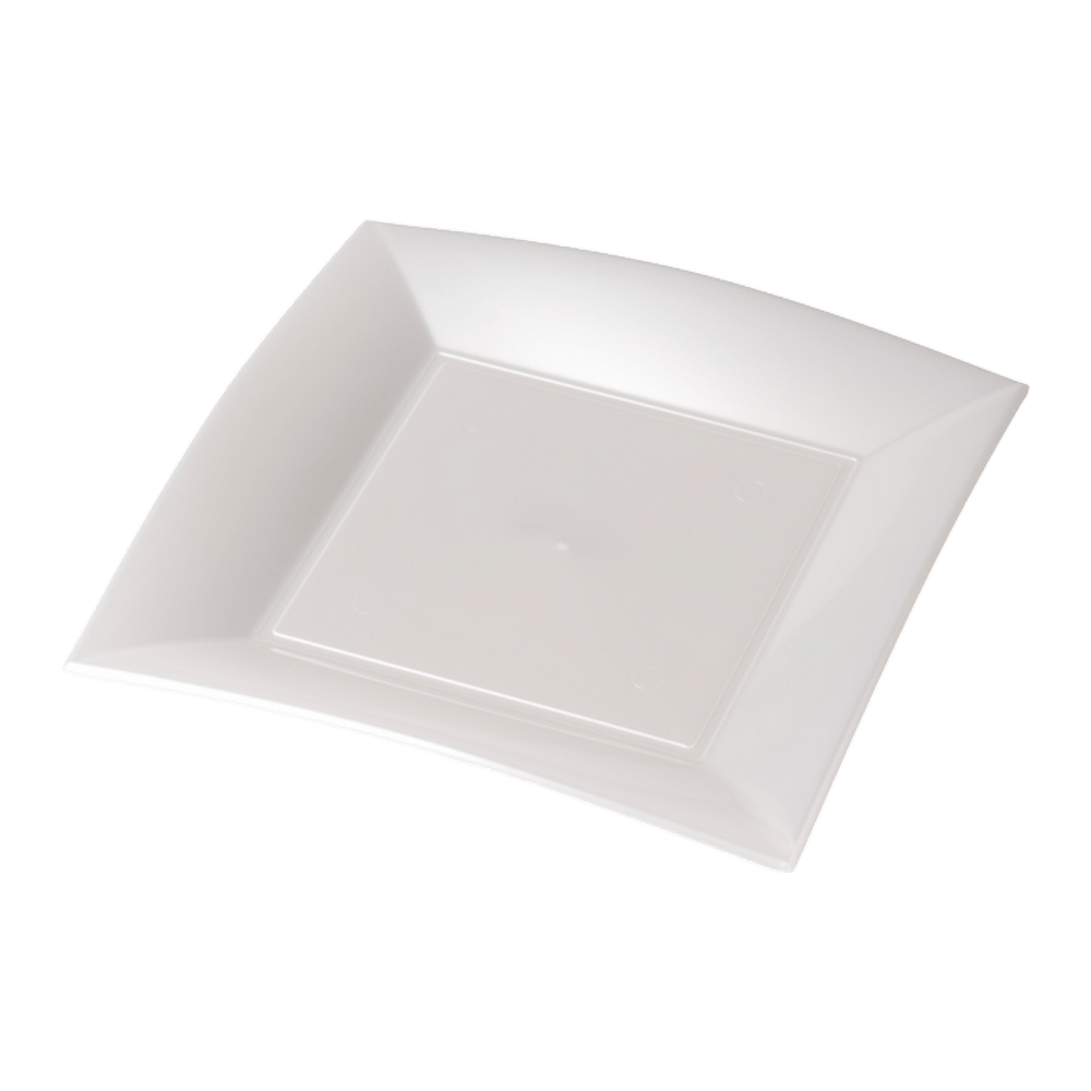 Bord Wit Parelmoer 230 ml 12 x 25 stuks
