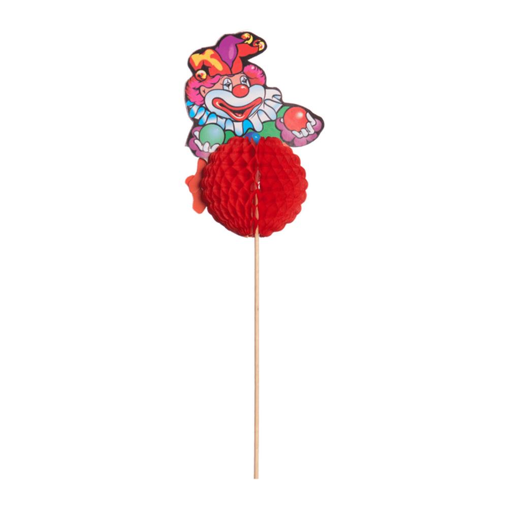 Clown op prikker 24 cm