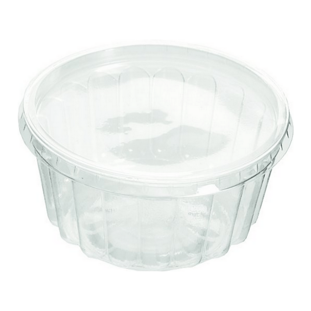 Rib Cup met deksel 125 ml 5 x 100 stuks