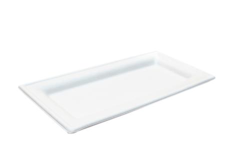 Biodore rechthoekig bord bagasse wit 20 cm 10 x 50 stuks