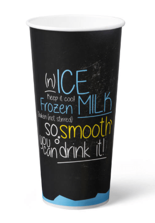 Milkshakebeker | Ice is Nice | Karton | 500 ml | Blauw | 20 x 50 stuks