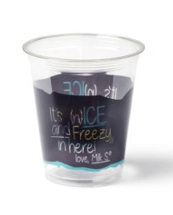 Transparant Blauw Milkshakebeker Ice is Nice 300 ml 16 x 50 stuks
