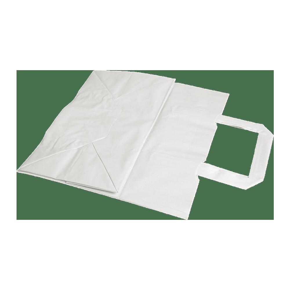 Papieren Draagtas | Wit | 26 x 17 x 25 cm | Doos 400 stuks