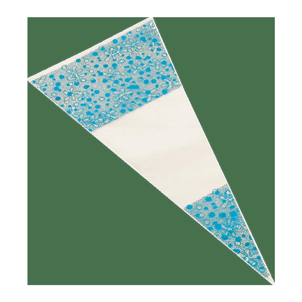 Puntzak blauw 18 x 37 cm 1000 stuks