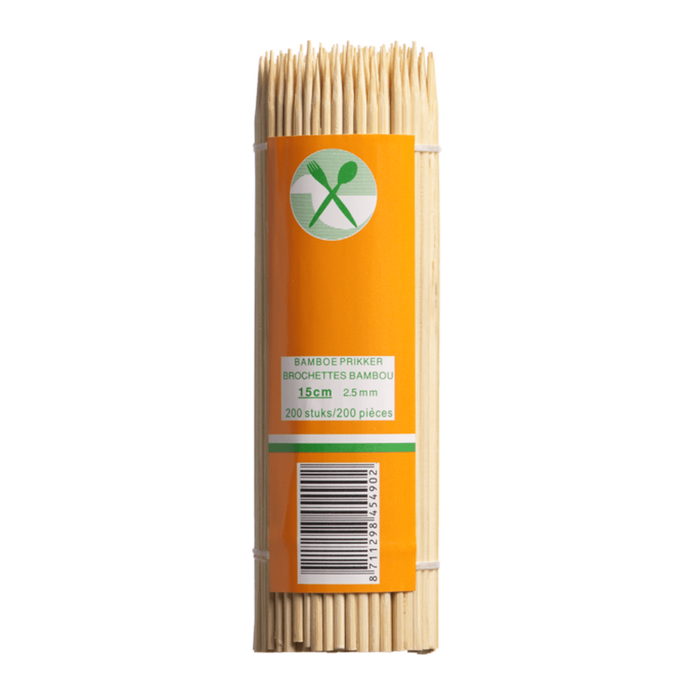 Satéstokjes Bamboe 15 cm 20.000 stuks