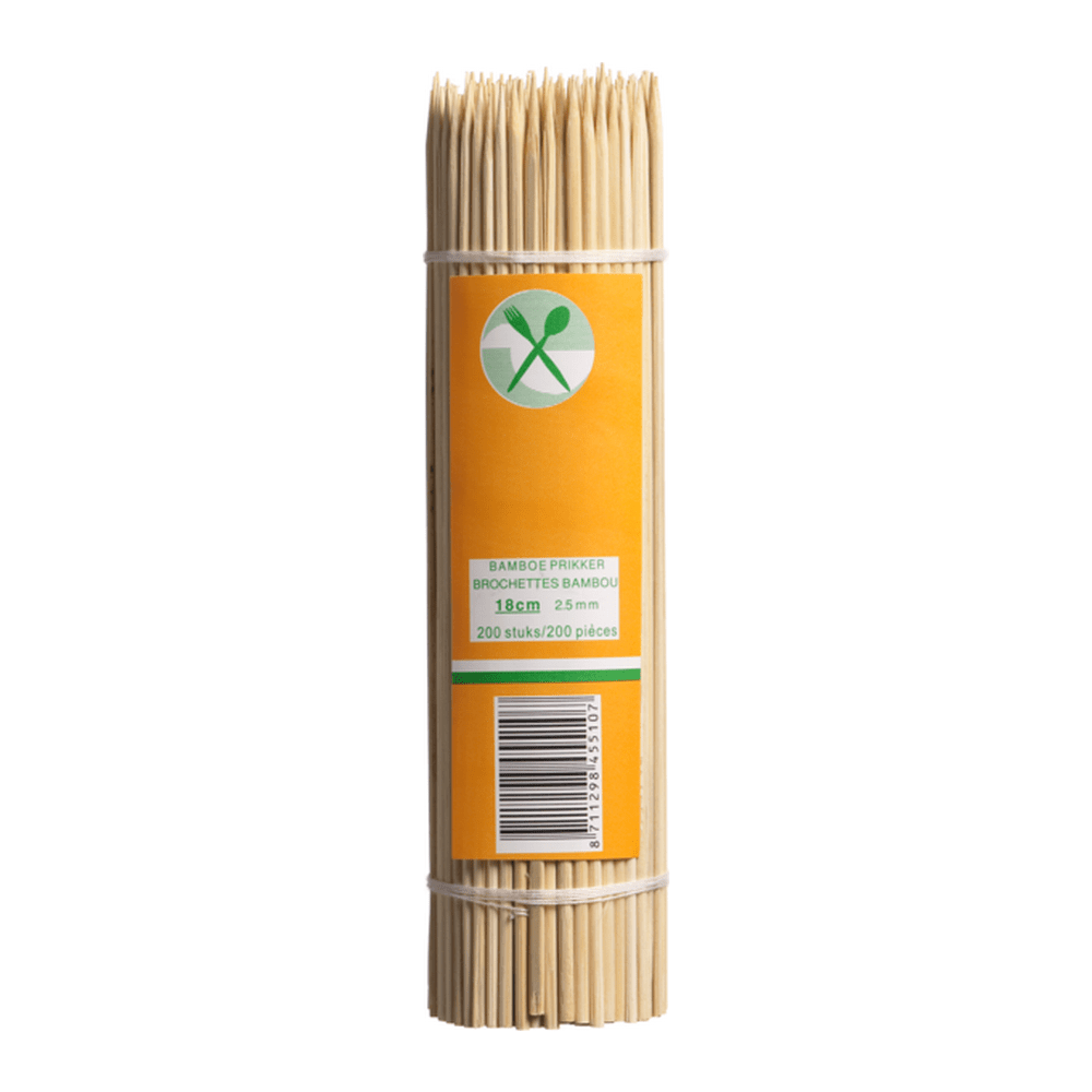 Satéstokjes Bamboe 18 cm 20.000 stuks