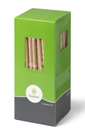 Biodore | Lepelrietje | Naturel kraftpapier | 230 mm | 1200 stuks