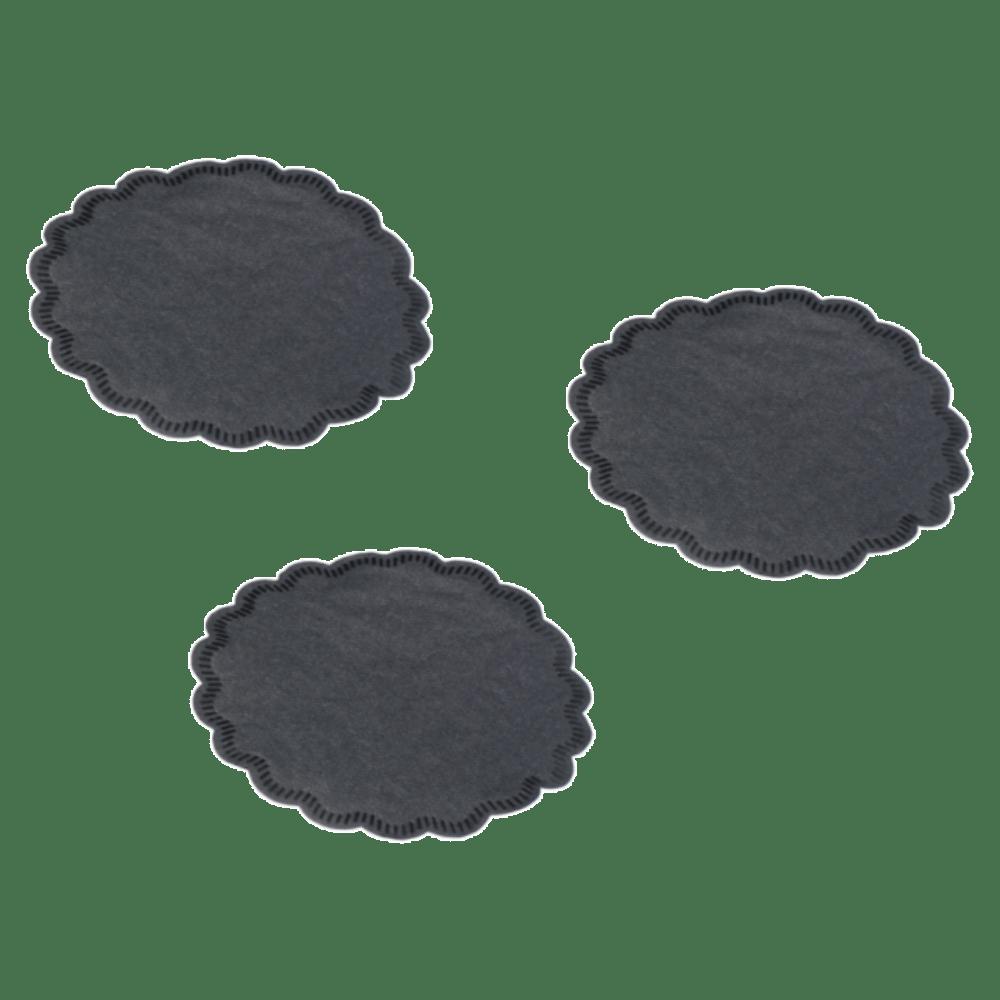 Onderzetter zwart 6 x 250 stuks