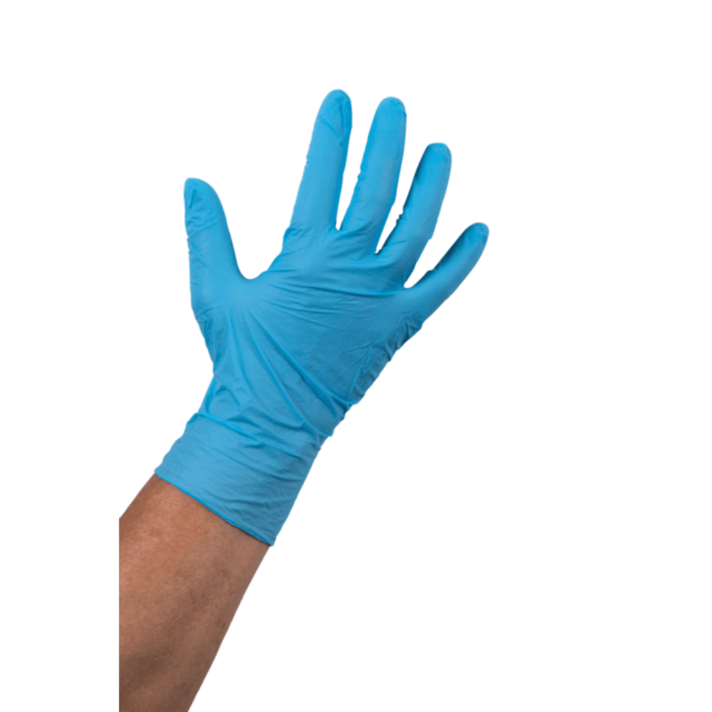 Comfort Handschoen Nitril ongepoederd L blauw