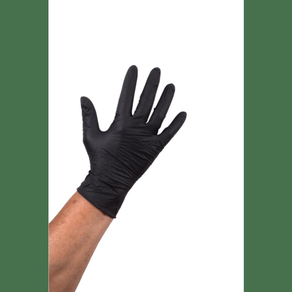 Comfort Handschoen Nitril ongepoederd L zwart