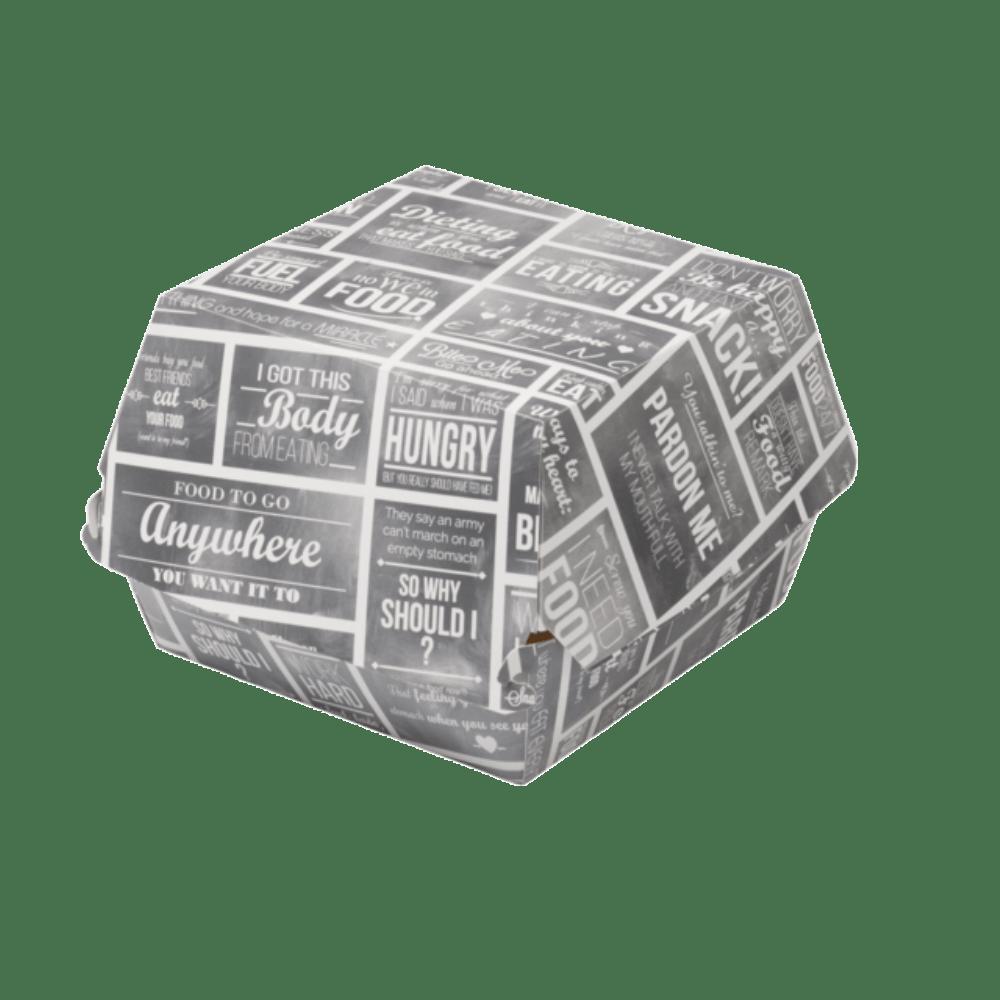 Bak Karton en coating 120 x 120 x 100 mm wit-grijs