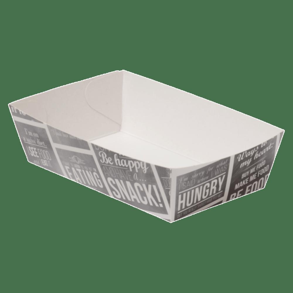 Bak Karton en coating 120 x 70 x 35 mm wit-grijs 4 x 100 stuks