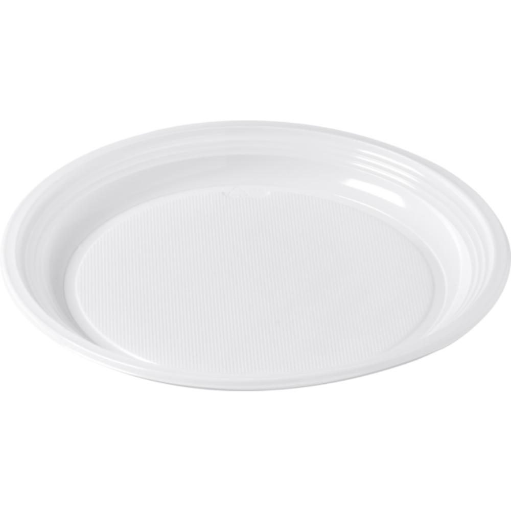 Bright® | Bord rond |1-vaks | Wit | 10 x 100 stuks