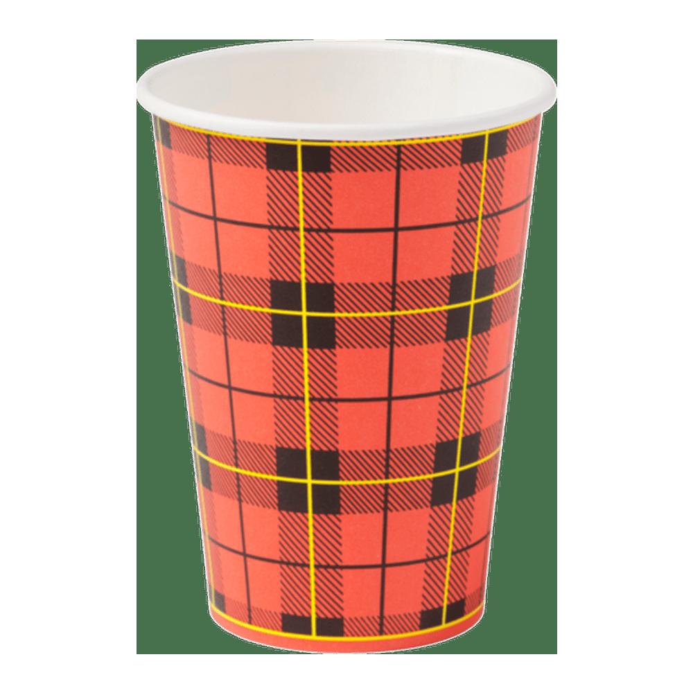 Hot Cup Schotse Ruit 180 ml 25 x 100 stuks