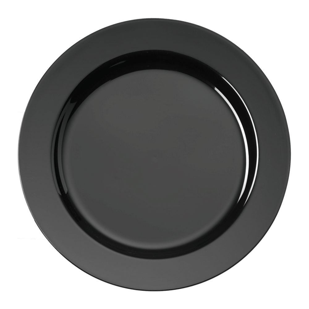 Bord zwart 190 mm 10 x 20 stuks