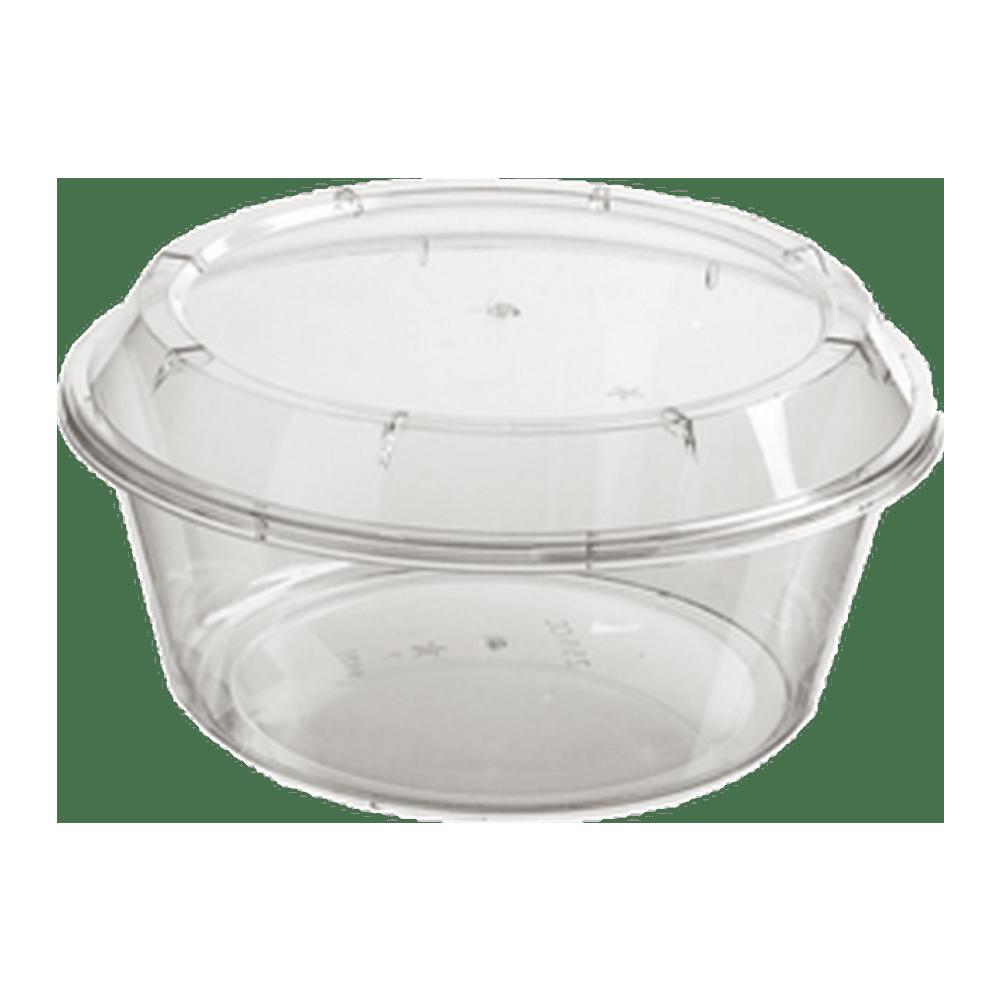 Cup met deksel 250 ml 5 x 100 stuks