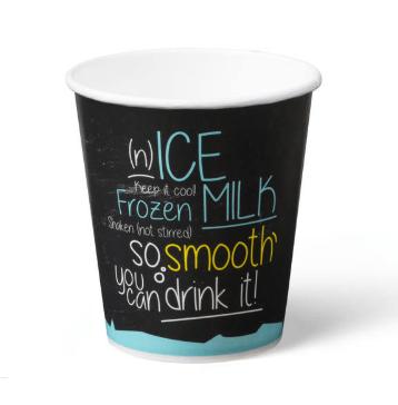 Milkshakebeker Ice is Nice karton/PE 300 ml Blauw 20x50 stuks