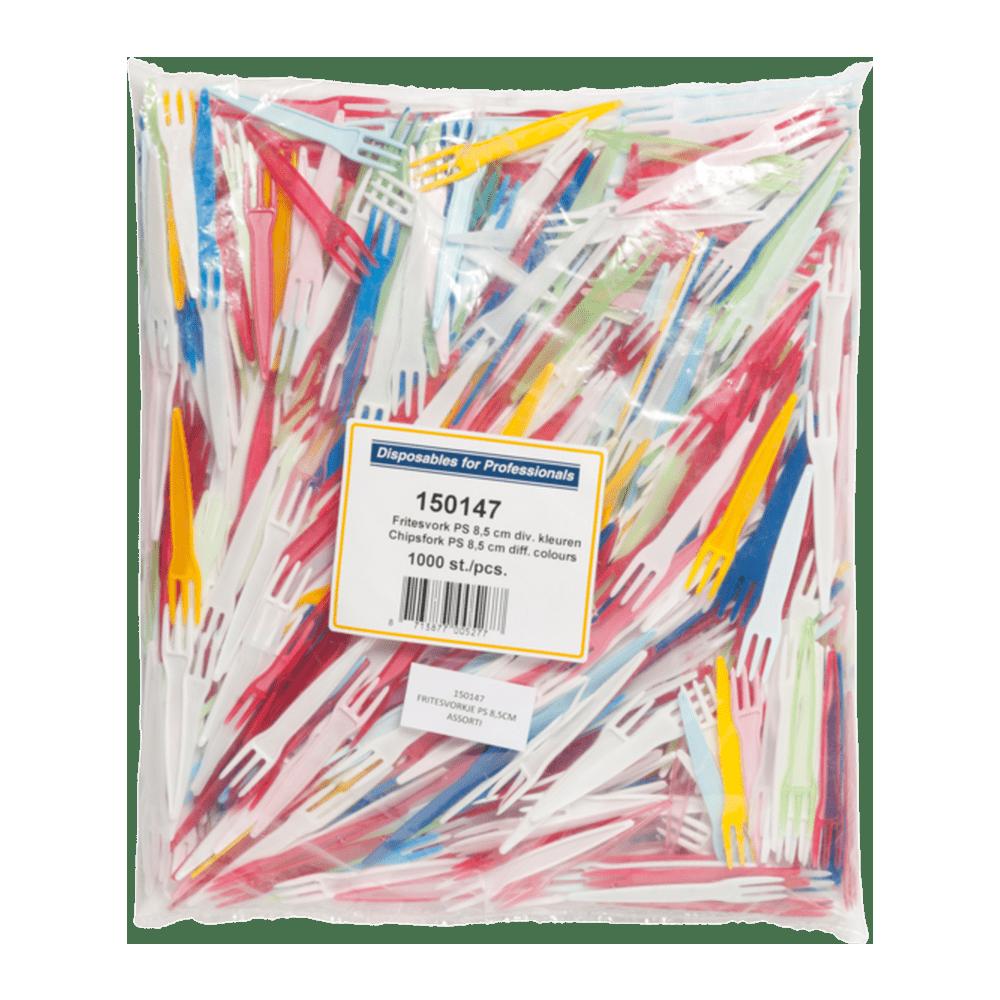 Drietands frietvorkje | Assortiment | 5 x 1000 stuks