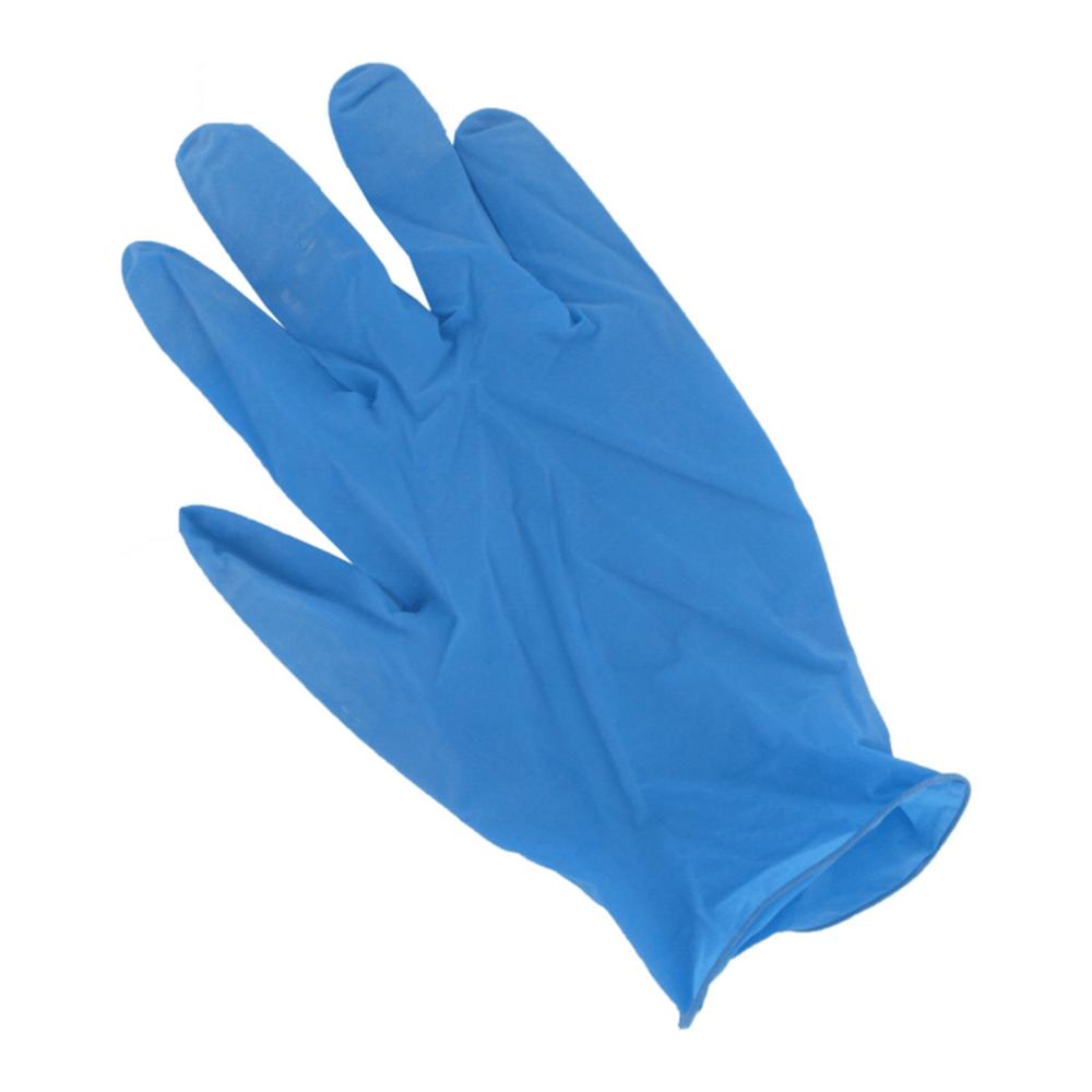 Handschoen Latex  gepoederd Blauw L