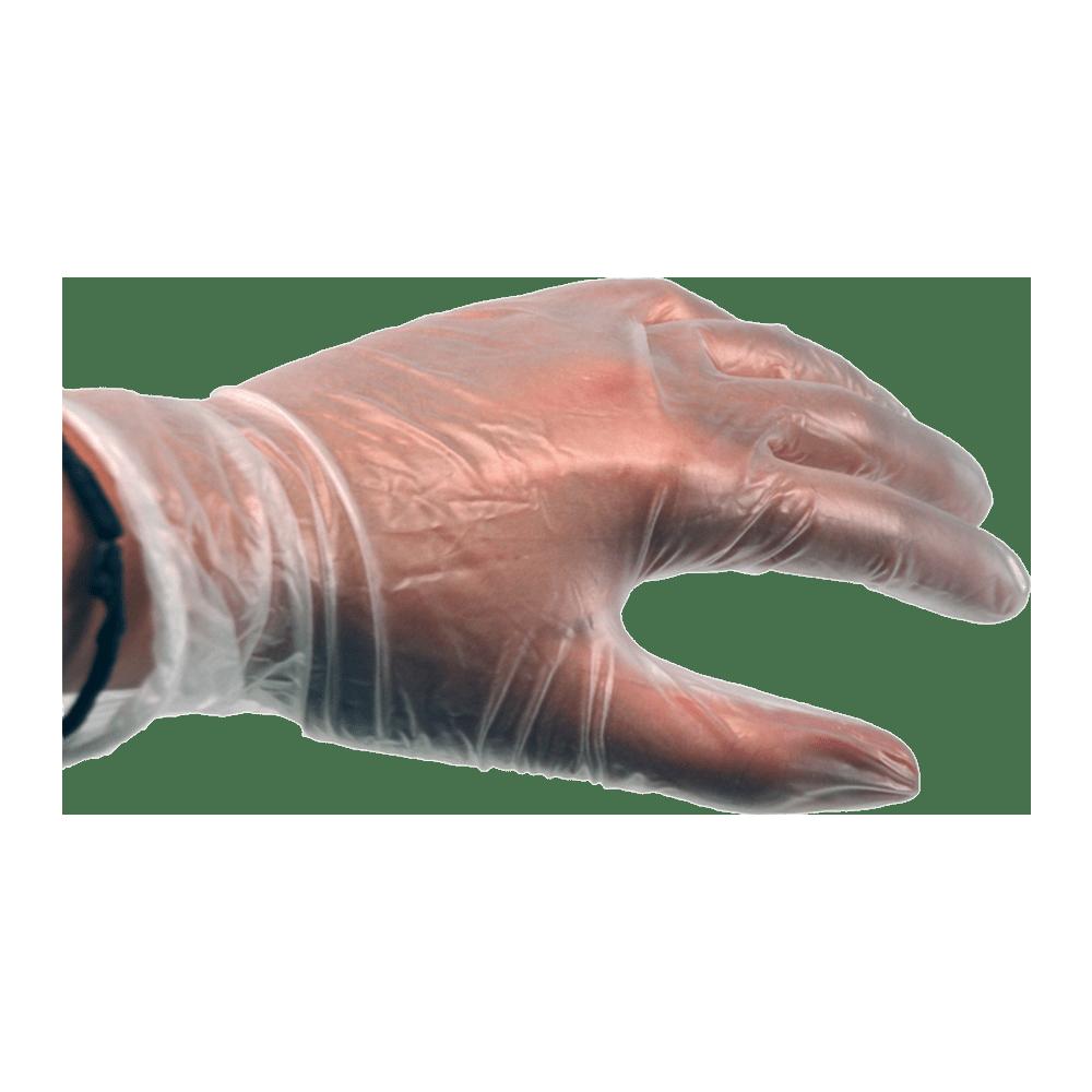 Handschoen Vinyl gepoederd L