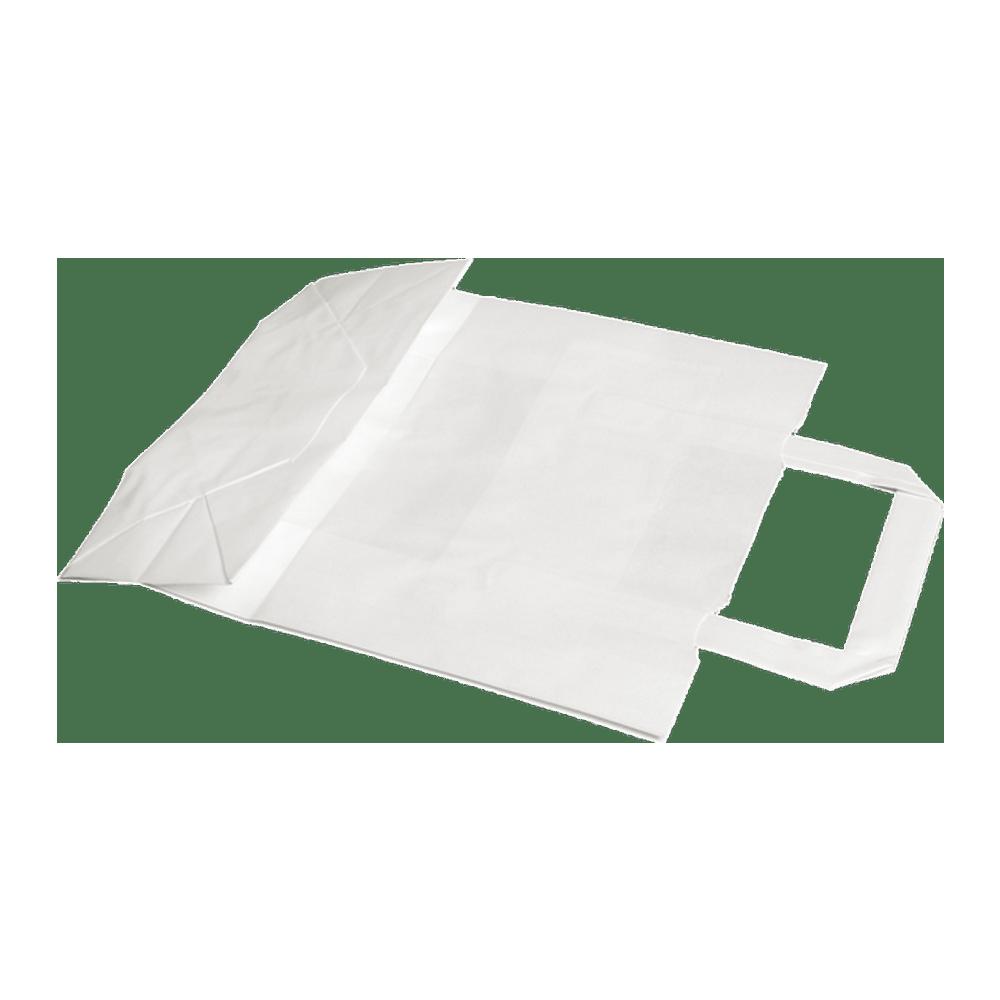 Papieren Draagtas wit 22 x 10 x 28 cm 400 stuks