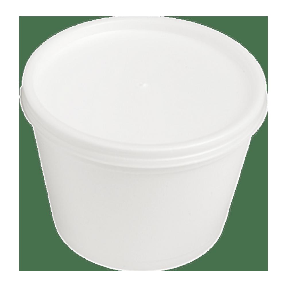 Foampot met deksel 340 ml 10 x 25 stuks