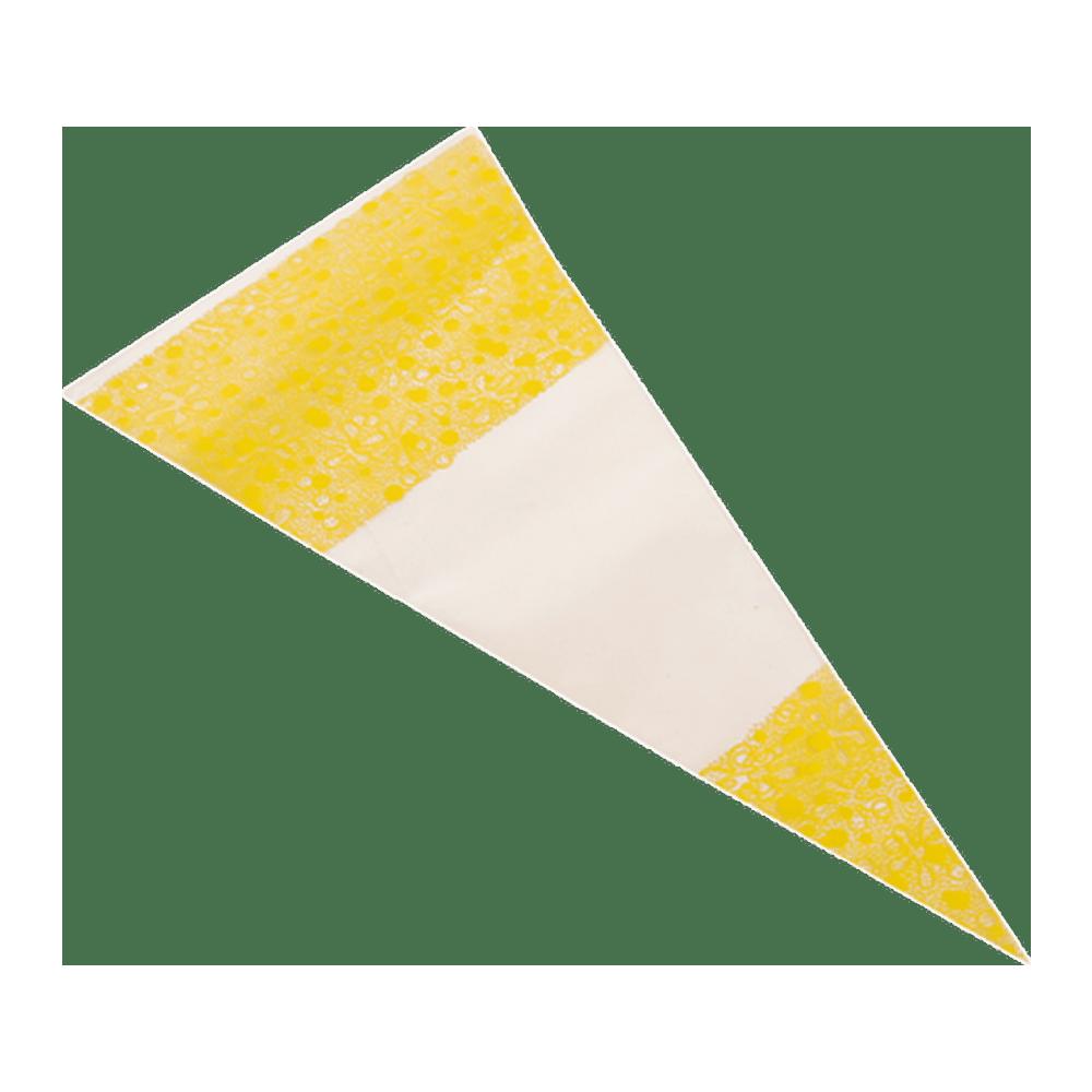 Puntzak geel 18 x 37 cm 1000 stuks